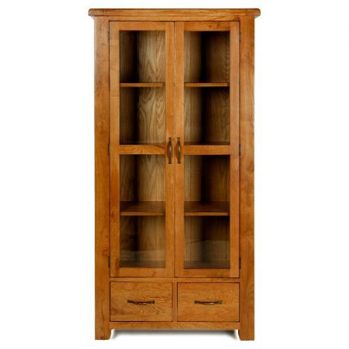Bradley Oak Glazed Display Cabinet